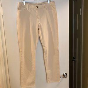 Banana Republic Skinny Cream Pants